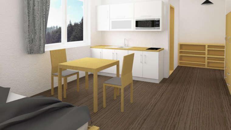 Nové ubytování v centru RESORTU