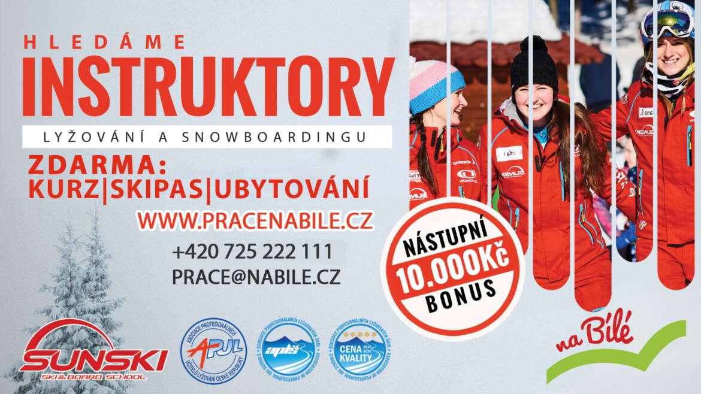 HLEDÁME INSTRUKTORY LYŽOVÁNÍ A SNOWBOARDINGU!